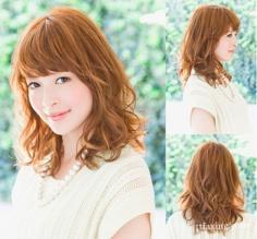 韩式中发烫发发型图片 时尚装扮从头开始