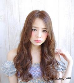 韩式蛋卷头中长发发型图片欣赏 个性大型打造独特魅力