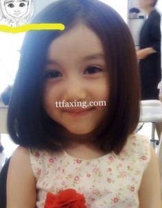 儿童波波头短发发型图片 超可爱小萝莉必备发型