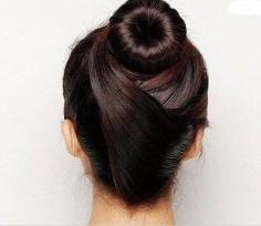 最新花苞头简单扎法图解 时尚丸子头优雅自然时尚大方