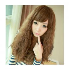 女生玉米烫发型图片 简单盘发个性十足显气质