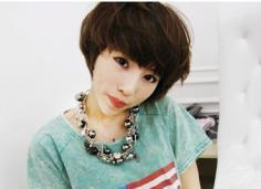 日系短发烫发发型设计图片 做个减龄的优雅小美人