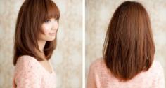 时尚修颜中长发烫发发型图片 甜美优雅凸显十足魅力
