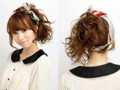 韩国甜美发带的扎法技巧 让脸型看起来更好看