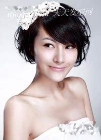 秋日新娘最爱的艺术线条盘发