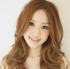 时尚日系长卷发 瘦脸女人味百分百