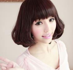 韩式短发蛋卷头轻松打造小脸