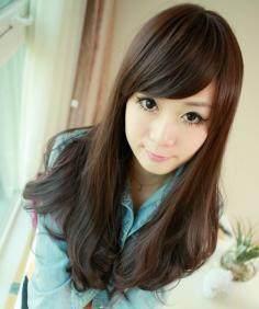 唯美2013韩式中长发修脸时尚具备