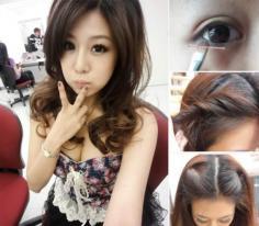 4步骤搞定日系无辜大眼妆+超简单韩式发型