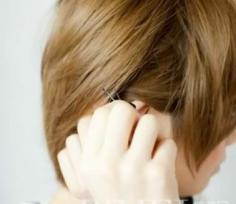 短发变形术 两个发夹让你造型升级
