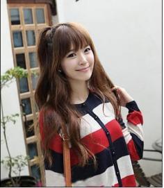 打造清纯美少女系 初秋韩式发型美不胜收