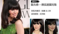 秀场上常看到的百变刘海发型 艺人大胆尝试引领风潮