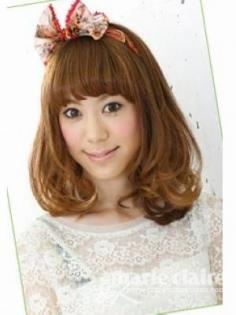适合圆脸MM5款日发型(圆脸适合的发型图片)