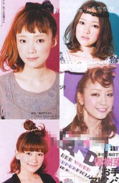 日本时尚杂志日系发型DIY 脸型与短发发型设计