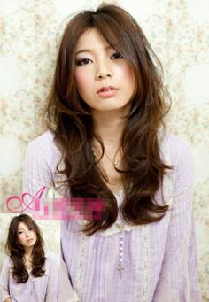 小圆脸适合什么刘海韩系淑女发型 ~神奇时尚OL发型