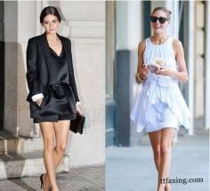 欧美时尚女装街拍 教你怎么诠释经典黑低调白