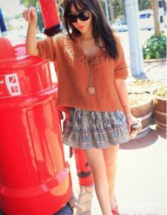 秋季出游服装搭配 搭出时尚甜美风