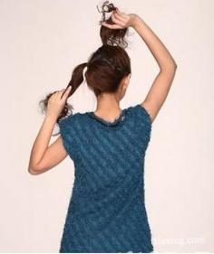 分享长发发型扎法及步骤 让你有个亮丽的发型