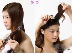 韩式卷发盘发技巧 编织麻花辫时尚又优雅
