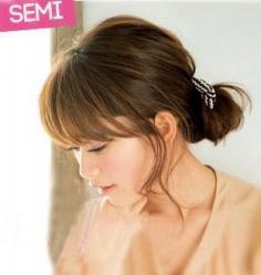 教你怎样梳花苞头 2款韩式花苞头的DIY教程分享