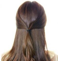 中长发发型简单扎法图解 简单拥有魅力唯美发型