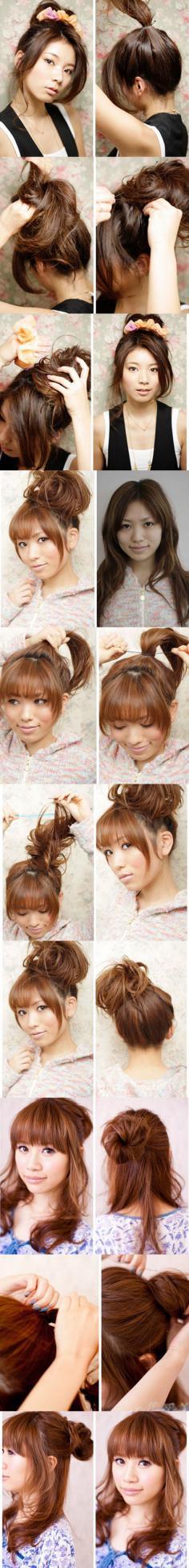 5分钟打造3款可爱丸子头发型 夏季清凉必备