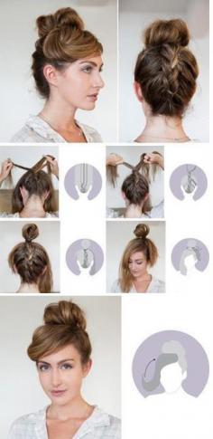 丸子头各种变化,散开长发十分特色