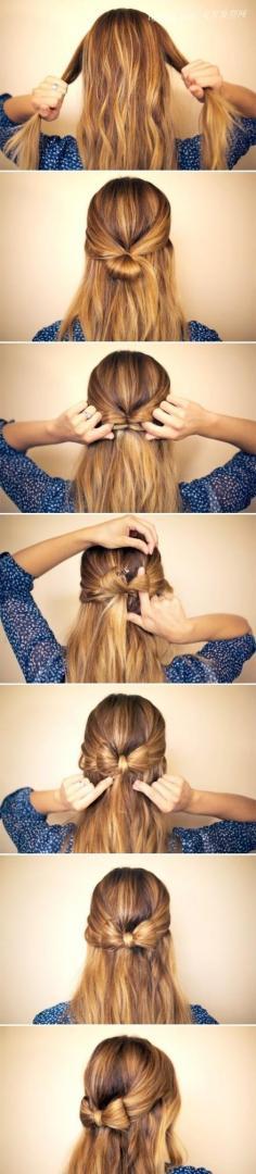 【超简单发型】英伦蝴蝶结的编发,原来是这么整
