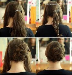 夏日必看 简单盘头发方法