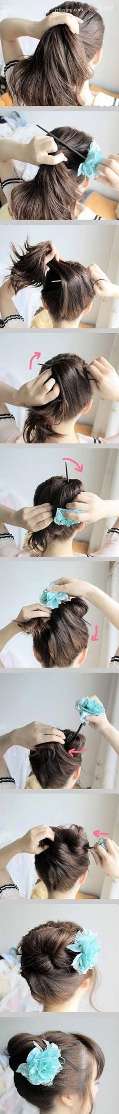 一根簪子打造的盘发造型