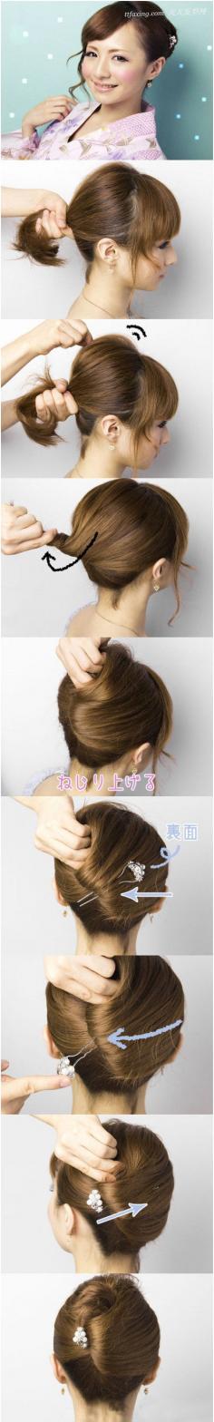 简单的庆典晚宴专用的优雅韩式盘发