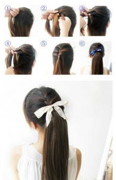 淑女发型教程-漂亮淑女发型扎法