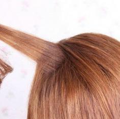 DIY另类个性的女生盘发