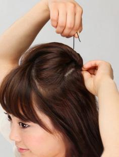 四步打造淑女造型:短发怎么扎
