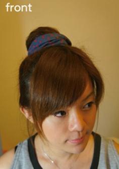 齐肩发发型扎法步骤—简单甜美丸子头