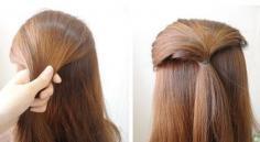 知性甜美长发发型扎法回头率100%