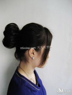 花苞头发型扎法步骤 花苞头的简单扎法