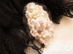 DIY珍珠发卡教程 贵妇淑女发型都适合哦