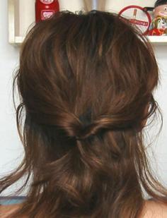 流行美发型之韩式盘发步骤图片
