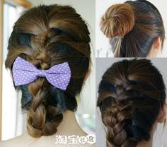 多种扎头发的发型有蜈蚣辫+马尾辫+花苞头