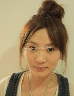 盘点大爱丸子头扎法潮流 2012年最流行的颜色头发