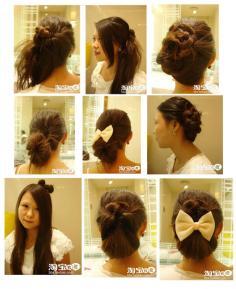 5大韩式盘发步骤图片 韩式扎头发diy发型
