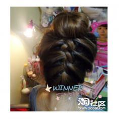 丸子头扎法 韩式扎头发diy发型