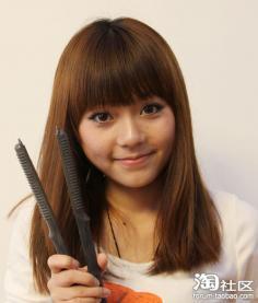 中长发梨花头怎么烫 麻豆妹学生发型设计