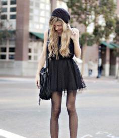 马丁靴搭配短裙 长腿MM搭出来