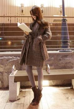 长款毛衣外套搭配 让你尽显潮流风范