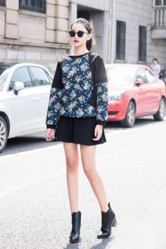小个子女生秋装搭配 各种混搭穿出时尚潮流