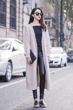 秋季女生薄款大衣 要风度也要温度