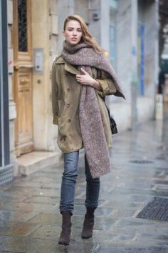 冬天衣服围巾搭配女装 保暖又有范儿