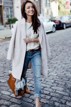 冬季羊毛呢大衣搭配 穿得温暖又不失美观
